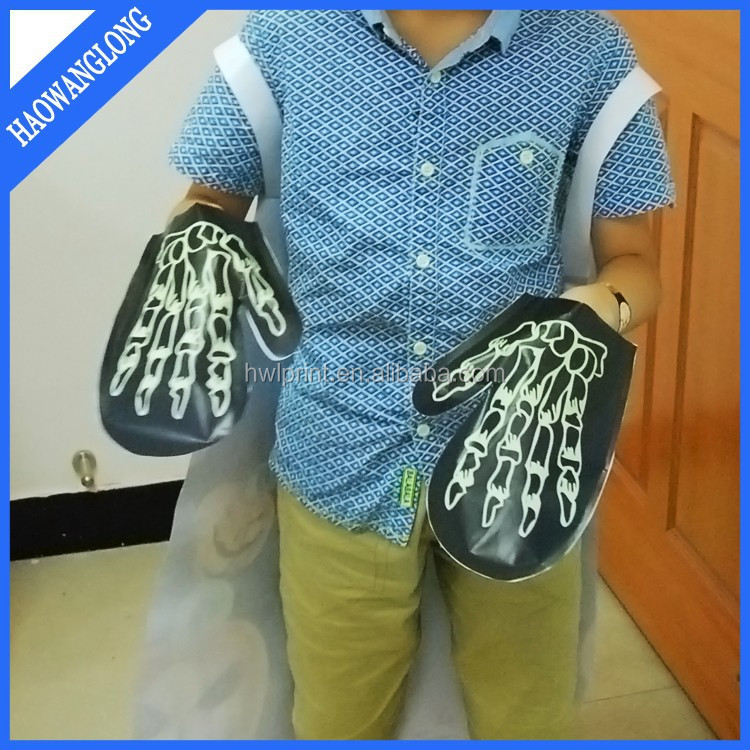 2015 new design halloween party kids suit paper glove