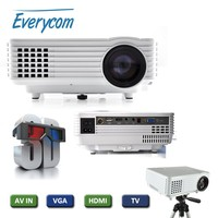 EC-77 LED Projector 3D full hd Mini proyector hdmi 1800 lumens home theater multimedia projetor