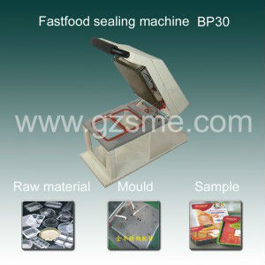 Desktop plastic food containers sealing machine