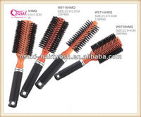wooden handle hair brush wooden bristle hair brush , natural boar self salon cleaning wooden hairbrushes in ningbo