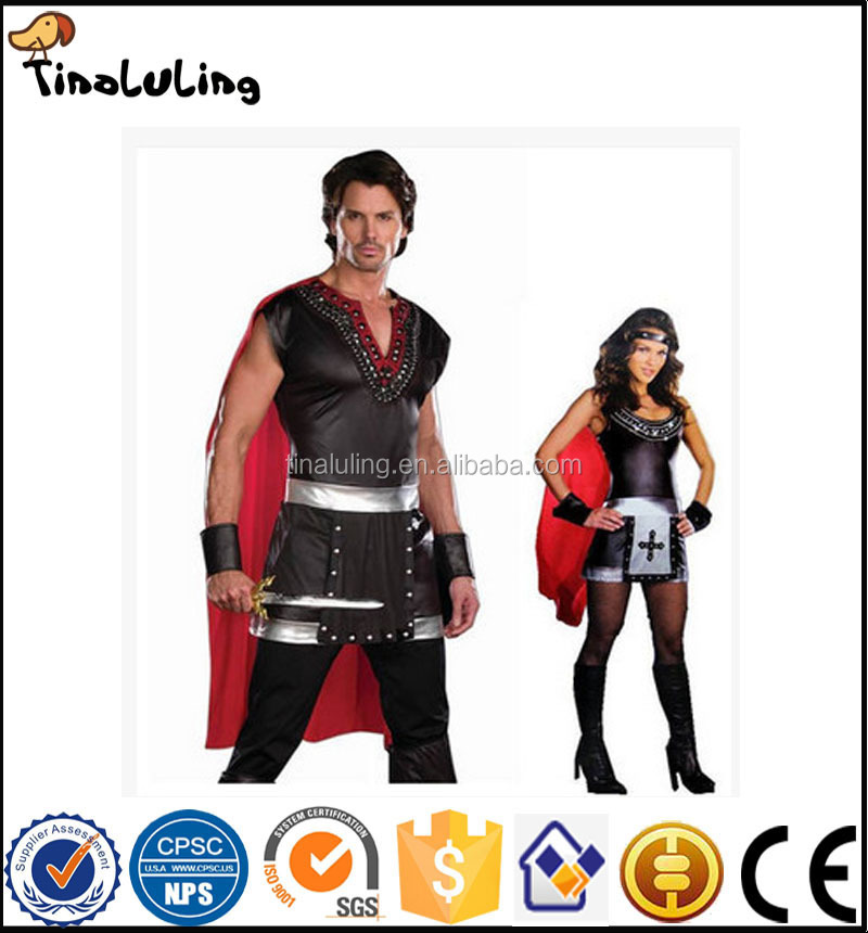 Halloween costume party cos Samurai warrior dress clothes Roman Gladiator Spartan warrior costume