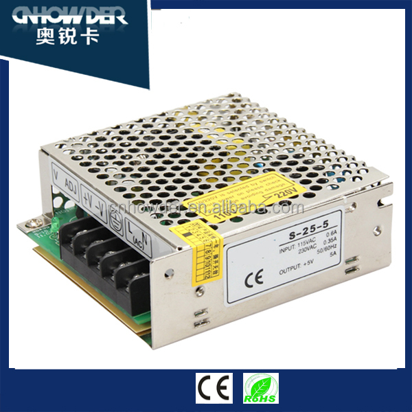 HOWDER Electrical Equipment 5V 12V 24V Switching Power Supply with low price and high reliability