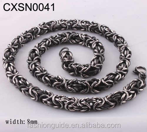 2015 Yiwu Alibaba Stainless Steel Men's Necklace With The Rubber