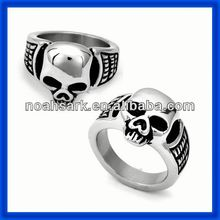 China supplier fashion jewelry skull and crossbones rings