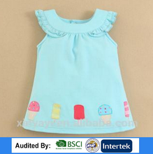 Hot sale 2017 baby frock designs dress/baby 1 year old party dress importing baby clothes from china