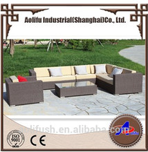 Brown royal Leisure best-selling outdoor wicker furniture garden 7 peoples seat sofa set