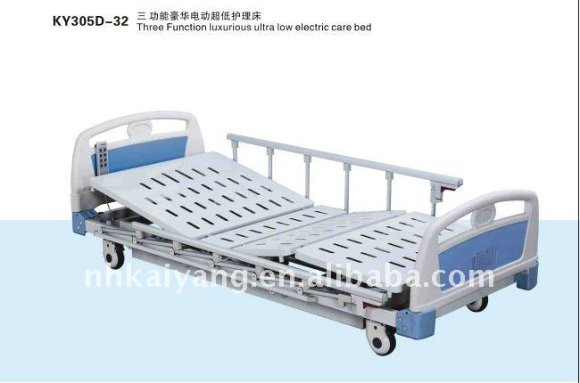 Three-Function luxurious ultra low electric care bed