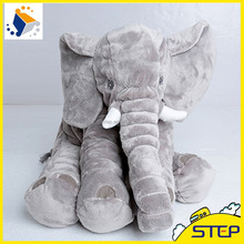 2016 Hot Sale 53*45cm Gray Elephant Plush Toys Baby Pillow Stuffed Animal Plush Toys Home Decoration ST164201