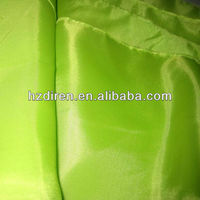 grass green poly taffeta ribbon fabric