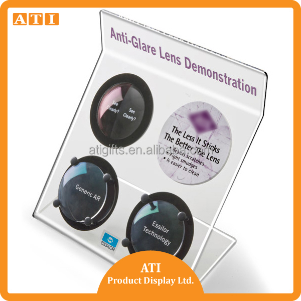 Hongkong New Design freestanding acrylic optical lens display
