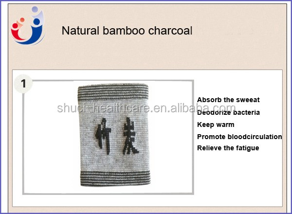 New Style Bamboo Charcoal Stripes Elastic Nylon Wrist Band Support