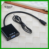 Micro HDMI to VGA Adapter Converter with Audio for Smartphones/Ultrabooks/Tablets