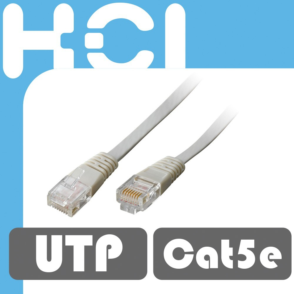 RJ45 Cat5e UTP Cable Stranded Flat Molded Patch Cord