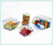 China Suppliers Wholesale Modern Acrylic Candy Display Racks/Bulk Candy Dispenser