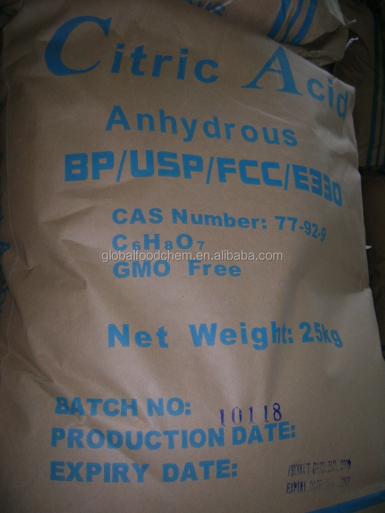 Healthy Good Quality 30-100mesh E330 Citric acid
