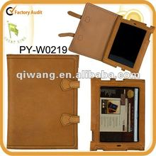 for ipad leather case with retro style with full grain leather