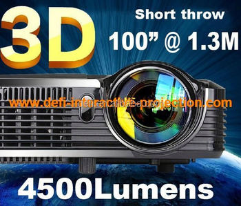 5000 lumens dlp short throw projector
