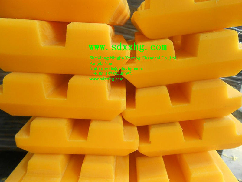 Yellow UHMWPE Track pads for Milling machine