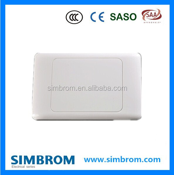 Electrical Wall 1 Gang Switch Blank Plate with SAA Certificate
