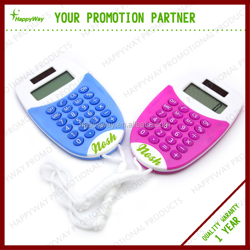Mini Mobile Calculator With Rope, MOQ 100 PCS 0702025 One Year Quality Warranty