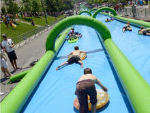 commercial grade inflatable double lane slip slide/1000 ft slip n slide inflatable slide the city