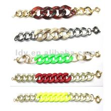 2012 Hot Sale Newest Alloy Chain Link Bangle Bracelet Wholesale Jewelry Trends 2012 Autumn Color Bracelet Bangle Trend Gift 2012
