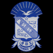 Custom personalized greek letter patch Phi Beta Sigma Shield Patch Embroidery