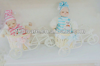 mini baby doll in basket for baby shower party favor buy reborn baby