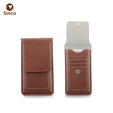 card slot metal buckle pu leather belt clip holster cell phone case for iphone X