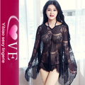 Oversize Hot Ladies Transparent Sexy Lace Sheer Nighties Lingerie
