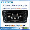 ZESTECH 7 inch 2 din car dvd gps for Audi A3 S3 with GPS NAVIGATION+FULL MULTIMEDIA SYSTEM car accessories