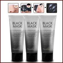 Private labels Natural Carbon deep clean peel off bleakhead removal mask Purifying mud mask