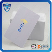White PVC rewritable fudan FM11RF08 chip card
