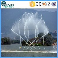 PLC Multimedia DMX Lights 2D Fountain Nozzles Outdoor Music Dancing Water Fountain