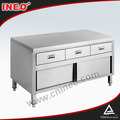 Commercial Restaurant Stainless Steel Kitchen Cabinet(INEO are professional on commercial kitchen project)