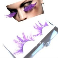 1 Pair Extra Long Feather Carnival False Eyelash
