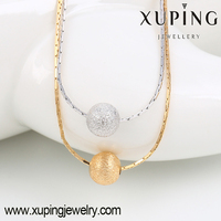 42909- Xuping Top Popular Two layer Bead Jewelry Necklace