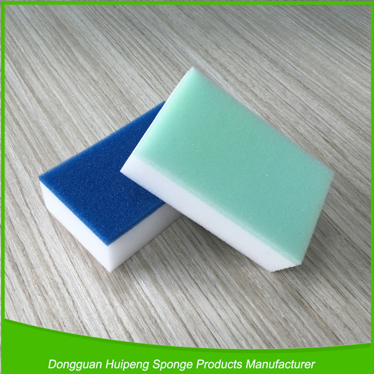 2016 hot sale high quality heavy duty usage kitchen scouring pads/cleaning sponges
