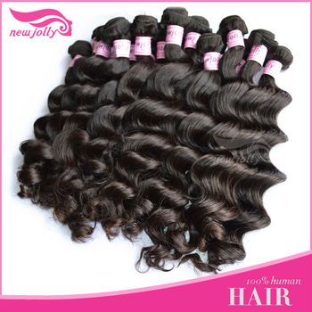 AAA quality unprocessed machine made brazilian hair weavon