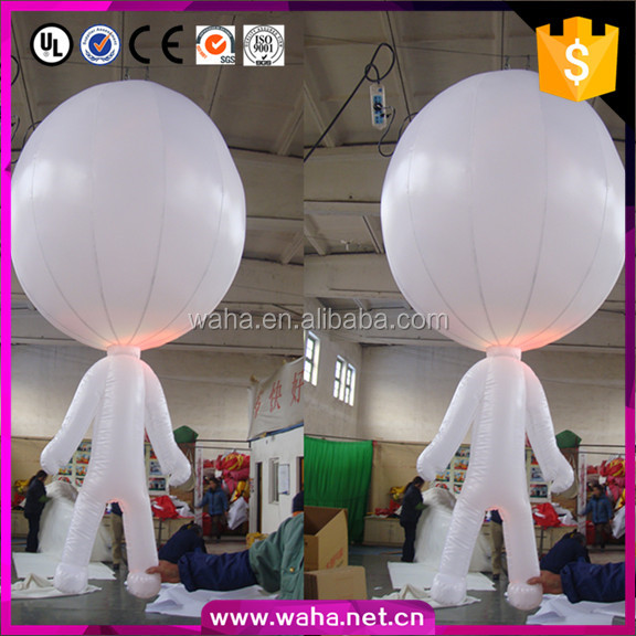 Indoor Advertising Led Display Cartoon Lighting Interaction inflatable Ball