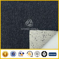 Double faced herringbone wool fabric