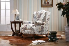 new style furniture living room sofa set/top sale design sweet small print floral fabric sofa