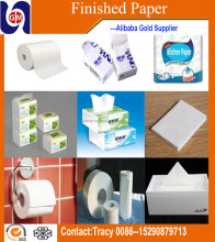 alibaba China factory supplier used toilet paper machine to make toilet tissue paper raw material for sale