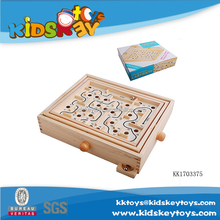Hot selling Wooden maze game ball maze for kids