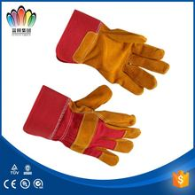 FT SAFETY Grain Deerskin working glove in heavy duty gloves Double leather back against abrasion and impact safety gloves