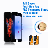 Full Screen Cover !! Mobile Phone Anti Blue Light 0.33mm tempered glass screen protector for iphone 6 Plus