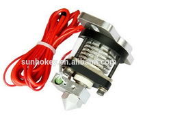 3D printer jet nozzle heating head Reprap Hotend V2.0 kit with 0.35mm and 0.4mm nozzle, 3D printer accessory