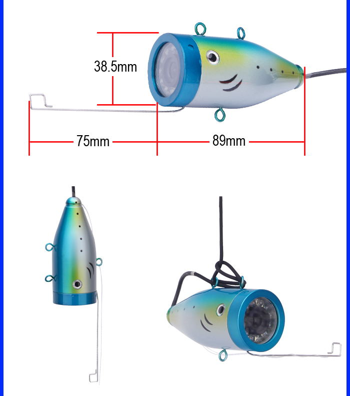 WF01 15M Cable Fishing Finder 7'' Color Digital LCD Fish Finder HD 1000TVL With DVR IR 12LED Underwater Fishing Camera