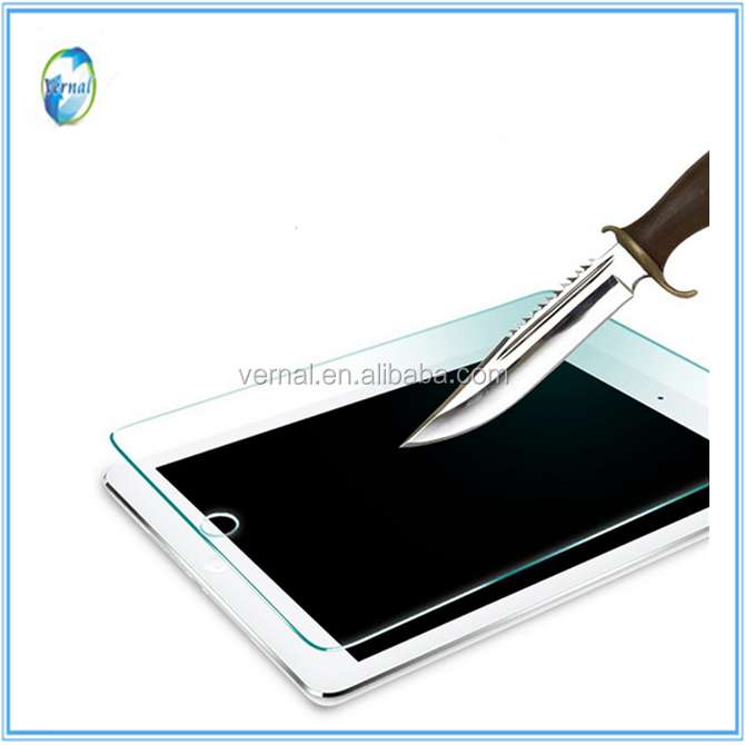2016 hot popular phone accessories 2.5D 9h tempered glass screen protector for iPad mini 4/air 2/pro 9.7 inch/6/mini 2/air