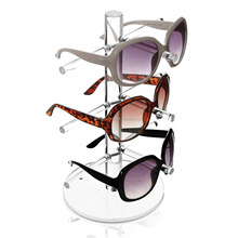 acrylic display manufacturer Tengyu plexiglass sunglasses optical clear counter display rack with round base stand